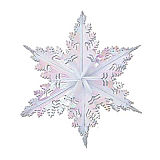 "Metallic Winter Snowflake 24"" Opalescent"