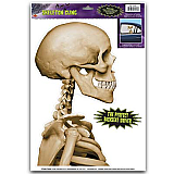 Skeleton Backseat Driver Car Cling