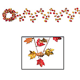 Gleam 'N Flex Autumn Leaf Garland 25'