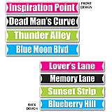 "Rock & Roll Street Sign Cutouts 4"" x 24"""