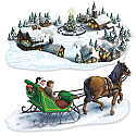 "Holiday Village & Sleigh Ride Props 4'7"" x 4'10"""