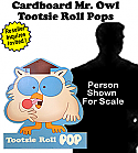 Tootsie Roll Mr Owl Card Board Cutout Standup